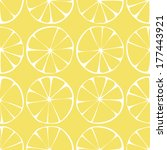 seamless pattern  lemon...