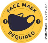 face required or no face mask... | Shutterstock .eps vector #1774442414