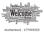 welcome tag cloud illustration... | Shutterstock . vector #177445325