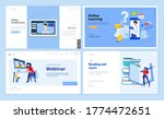 web page design templates of... | Shutterstock .eps vector #1774472651