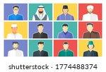 muslim male  boy dp or display... | Shutterstock .eps vector #1774488374