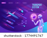 isometric delivery service with ... | Shutterstock .eps vector #1774491767