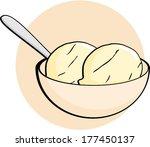 ice cream bowl | Shutterstock .eps vector #177450137