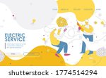 electric service landing page... | Shutterstock .eps vector #1774514294