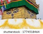 Eye Of Buddha In Nepal Symbol...
