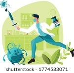 virology fights against viruses ... | Shutterstock .eps vector #1774533071