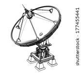 satellite dishes antenna  ... | Shutterstock . vector #177455441