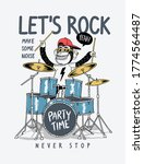 let's rock slogan with cool... | Shutterstock .eps vector #1774564487
