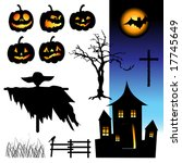 halloween night  elements for...   Shutterstock .eps vector #17745649