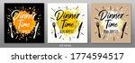 dinner time bon appetit  enjoy...   Shutterstock .eps vector #1774594517