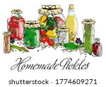 home made preparations  pickles ... | Shutterstock .eps vector #1774609271