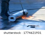 Roll Of Roofing Material With A ...