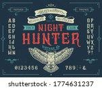 font night hunter. craft retro...   Shutterstock .eps vector #1774631237