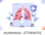 respiratory system examination... | Shutterstock .eps vector #1774646741