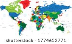 highly detailed map of the... | Shutterstock .eps vector #1774652771