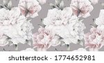 seamless floral pattern with... | Shutterstock . vector #1774652981
