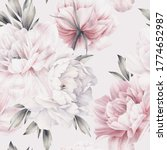 seamless floral pattern with... | Shutterstock . vector #1774652987