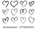 vector heart shape frame with... | Shutterstock .eps vector #1774653191