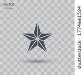 star icon. vector illustration...