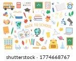 back to school vector set of... | Shutterstock .eps vector #1774668767