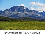 Montana United States. Summer Montana Landscape in Glacier National Park.