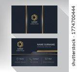 business card in modern luxury...   Shutterstock .eps vector #1774700444