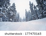 scenic winter road after 3 feet ... | Shutterstock . vector #177470165