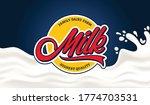 vector milk round label...   Shutterstock .eps vector #1774703531