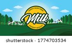 vector milk illustration with...   Shutterstock .eps vector #1774703534