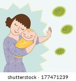 attack,baby,bacteria,barrier,care,child,daughter,defend,defense,disease,fight,germs,guardian,harm,healthy