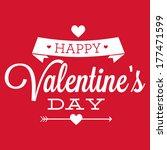 happy valentine's day heart... | Shutterstock .eps vector #177471599