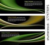 set of vector backgrounds. | Shutterstock .eps vector #177475091