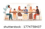 traditional arabic big family... | Shutterstock .eps vector #1774758437