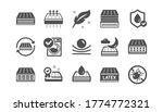 mattress icons set. washable ... | Shutterstock .eps vector #1774772321