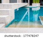 modern swimming pool design at... | Shutterstock . vector #177478247