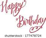 happy birthday | Shutterstock .eps vector #177478724