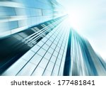 panoramic and perspective wide...   Shutterstock . vector #177481841