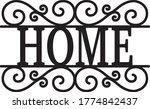home welcome sign vintage decor ... | Shutterstock .eps vector #1774842437