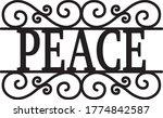 peace sign vintage decor... | Shutterstock .eps vector #1774842587