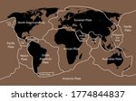 tectonic plate earth map....   Shutterstock .eps vector #1774844837