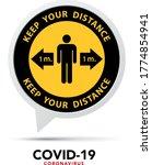 social distancing banner. keep... | Shutterstock .eps vector #1774854941