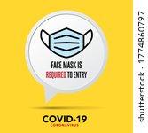 no face mask no entry sign... | Shutterstock .eps vector #1774860797