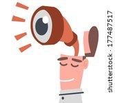 businessman with binoculars   Shutterstock .eps vector #177487517