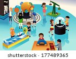 a vector illustration of kids... | Shutterstock .eps vector #177489365