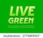 vector natural banner live...   Shutterstock .eps vector #1774895927