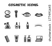 cosmetic icons, vector symbols