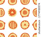 orange abstract circles  ... | Shutterstock .eps vector #1774930574