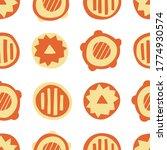 orange abstract circles  ... | Shutterstock .eps vector #1774930574