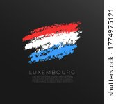 Flag Of Luxembourg In Grunge...