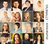 set of different people... | Shutterstock . vector #177498761